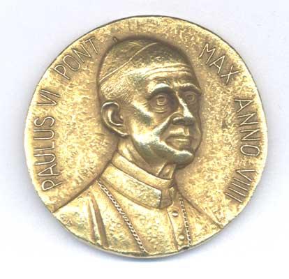 Samuele Bacchiocchi's gold medal, side 1