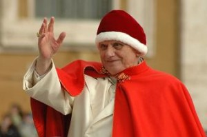 Pope Benedict XVI wearing a camauro