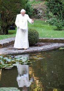 Pope Benedict in retirement