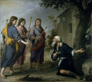 Murillo - Abraham receiving the three angels