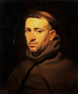 Head of a Franciscan Friar, ca 1615, by Peter Paul Rubens