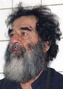 Saddam Hussein after capture
