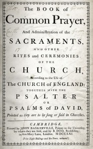 The Book of Common Prayer printed by John Baskerville