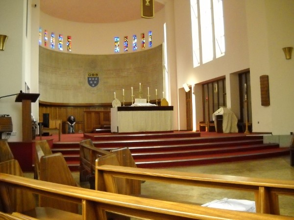 Inside the new chapel, Latin Mass training course, 2013, Ratcliffe College