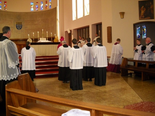 Pontifical Mass, Latin Mass training course, 2013, Ratcliffe College