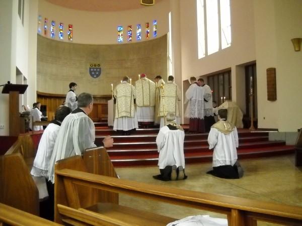 Pontifical Mass, Latin Mass training course, 2013, Ratcliffe College