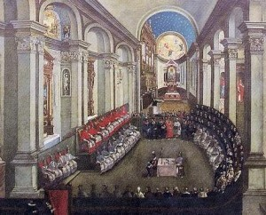 Council of Trent in Santa Maria Maggiore church, Museo Diocesano Tridentino, Trento (Italy)