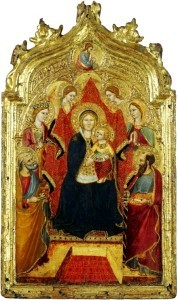 Madonna enthroned with Angels