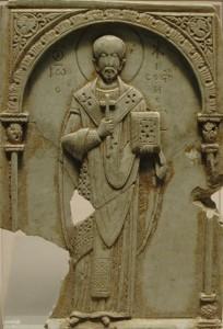 St John Chrysostom, soapstone carving