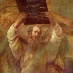 Moses with the Tablets of the Law - Rembrandt