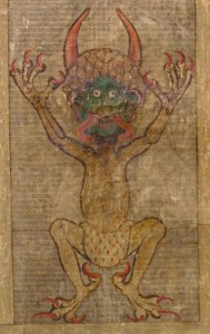 Illustration of the Devil in the Codex Gigas