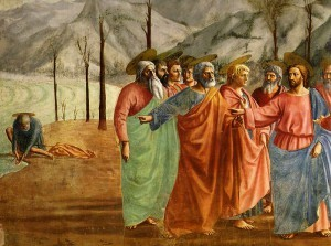 The Tribute Money, by Masaccio