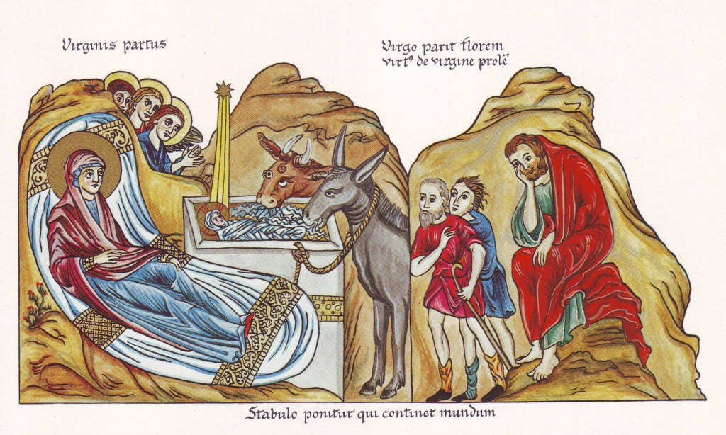 The Birth of Christ, by Herrad von Landsberg, 1180 AD