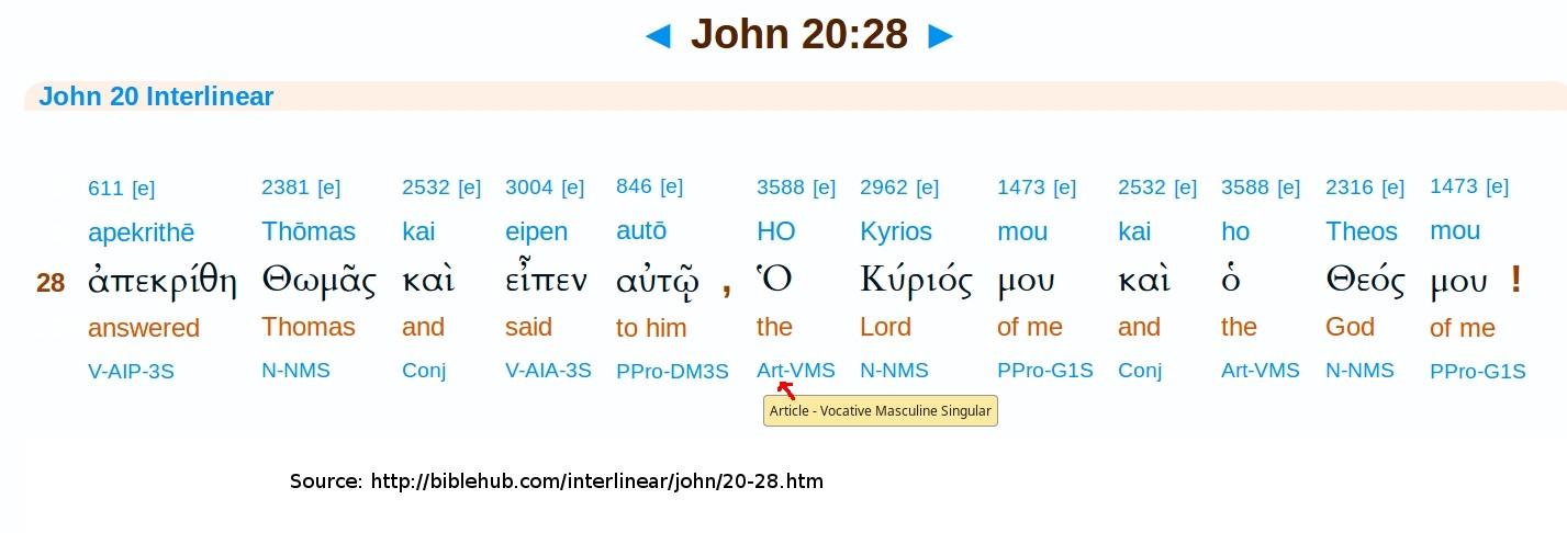 John 20:28   Catholicism and Adventism