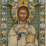 Russian Jewelled Icon of Christ Pantocrator