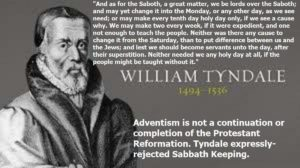 Tyndale and the sabbath