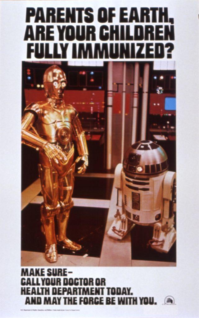 1977 Star Wars vaccine poster