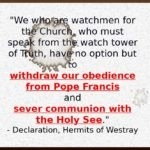 Declaration of Schism by Hermits of Westray