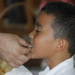 Communion on the tongue