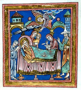 12th century German Nativity of Mary