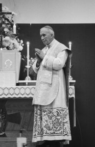 Archbishop Lefebvre illicitly saying Mass in 1981 while suspended a divinis