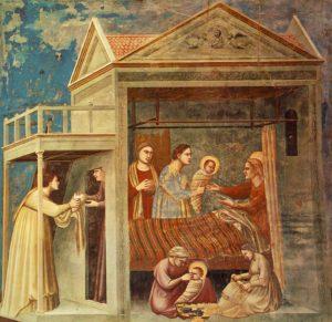 Giotto di Bondone - Birth of the Virgin