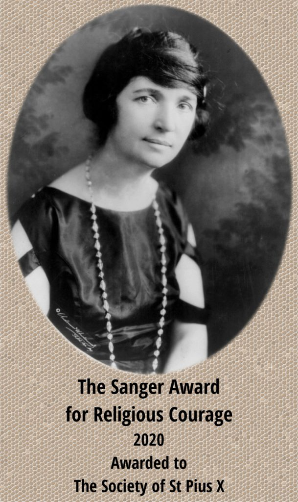 Sanger Award for Religious Courage