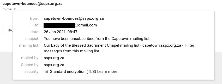 Mailing list removal
