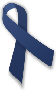 Dark blue ribbon - Child abuse prevention
