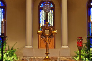 Eucharistic adoration at Saint Brigid of Kildare Church (Dublin, Ohio)