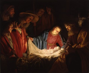Adoration of the Shepherds, by Gerard van Honthorst, 1622 AD