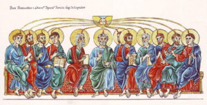 The sending of the Holy Spirit upon the Apostles