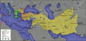 Map of the breakup of the Greek empire